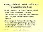energy states in semiconductors physical properties