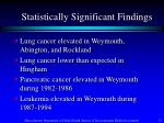 statistically significant findings