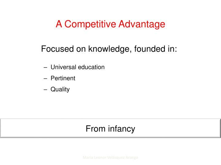 A Competitive Advantage