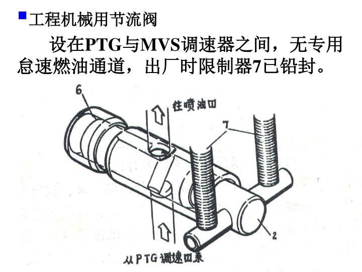 工程机械用节流阀