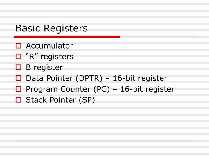 Basic Registers