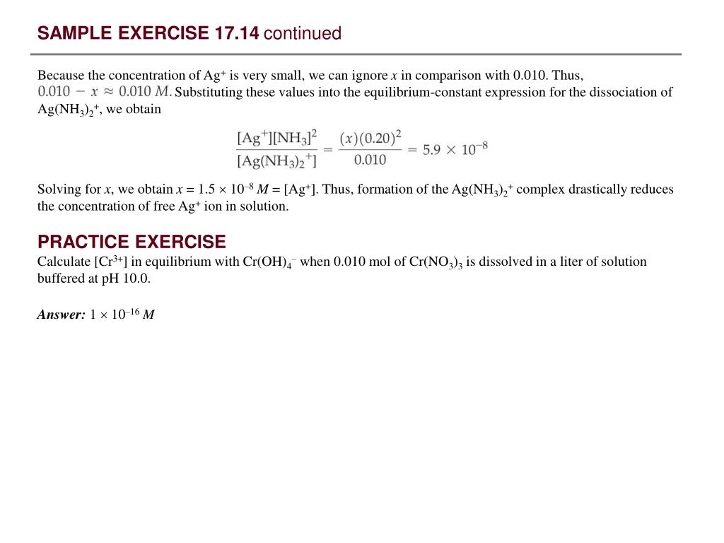 PPT - SAMPLE EXERCISE 17 1 Calculating the pH When a Common