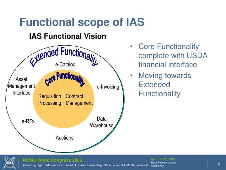 Functional scope of IAS