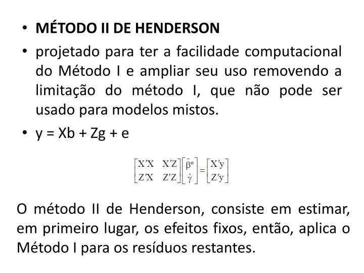 MÉTODO II DE HENDERSON
