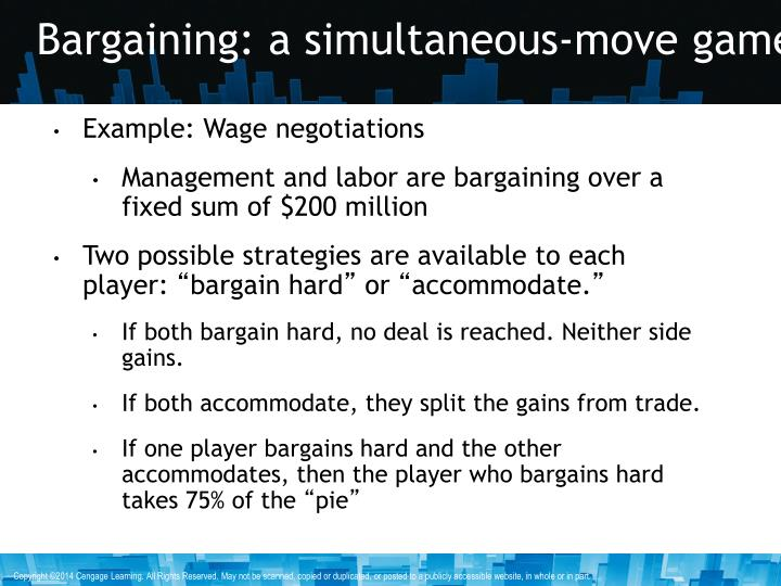 Bargaining: a simultaneous-move game