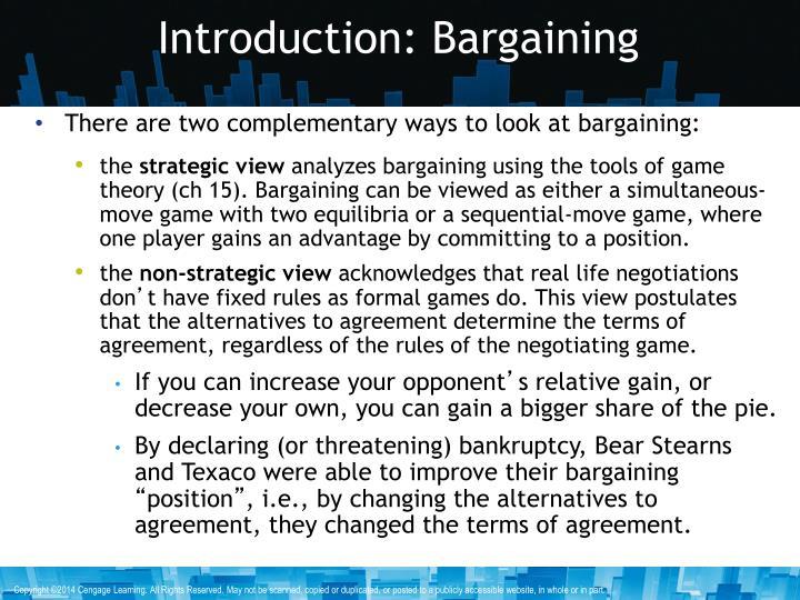 Introduction: Bargaining