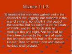 mizmor 1 1 3