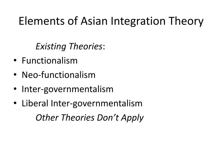 Elements of Asian Integration Theory