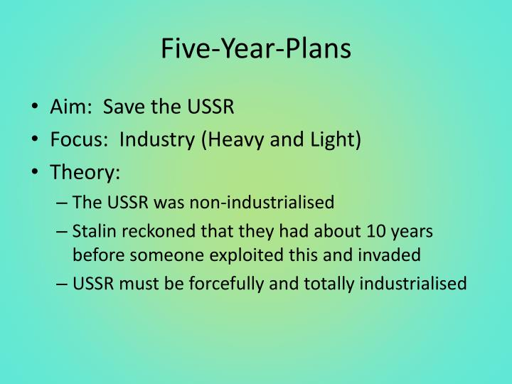 Five-Year-Plans