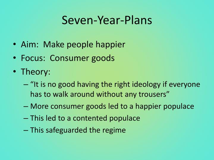 Seven-Year-Plans
