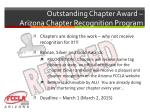 outstanding chapter award arizona chapter recognition program