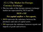 32 1 2 the market for foreign currency exchange