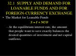 32 1 supply and demand for loanable funds and for foreign currency exchange