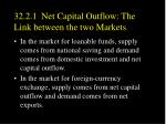 32 2 1 net capital outflow the link between the two markets