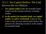 32 2 1 net capital outflow the link between the two markets1