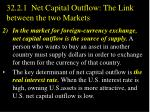 32 2 1 net capital outflow the link between the two markets2