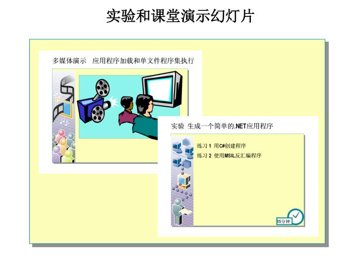实验和课堂演示幻灯片