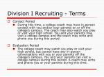 division i recruiting terms1