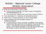 njcaa national junior college athletic association