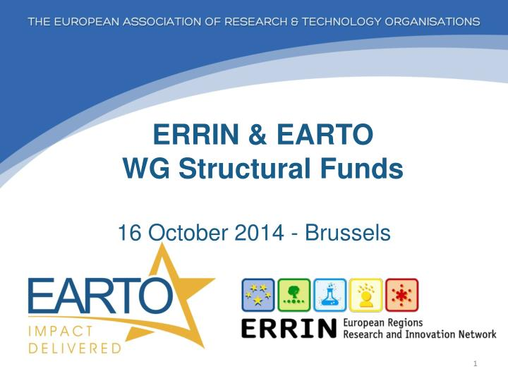 Errin earto wg structural funds