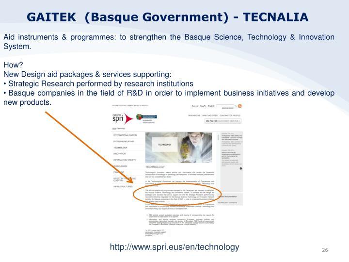 GAITEK  (Basque Government) - TECNALIA