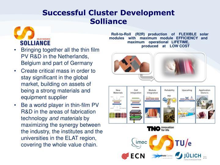 Successful Cluster Development
