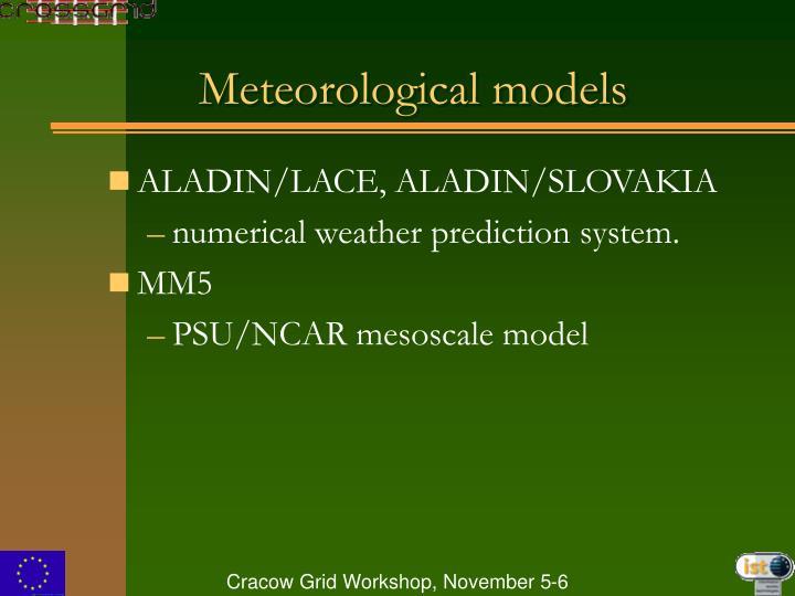 Meteorological models