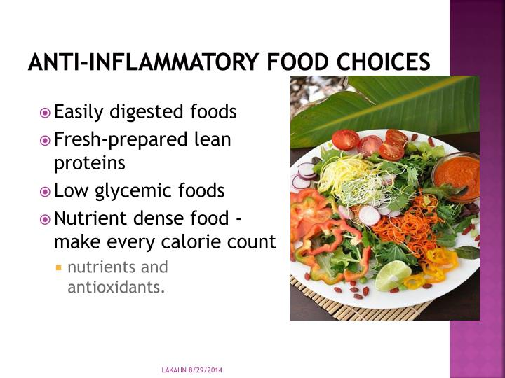 Anti-inflammatory Food choices
