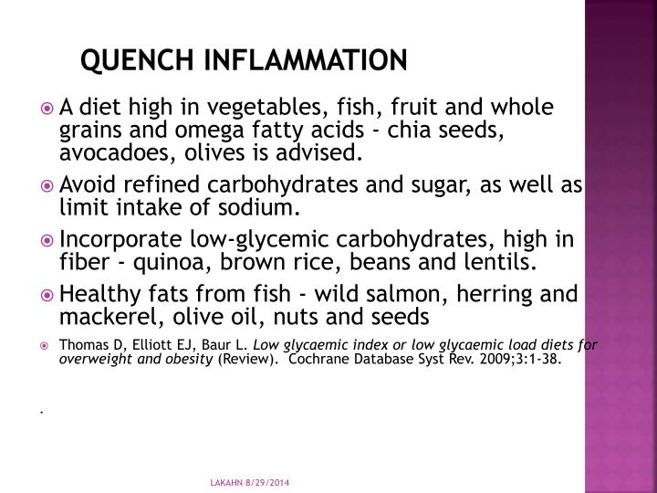 Quench Inflammation
