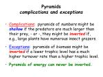 pyramids complications and exceptions