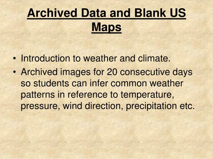 PPT - Archived Data and Blank US Maps PowerPoint Presentation - ID ...