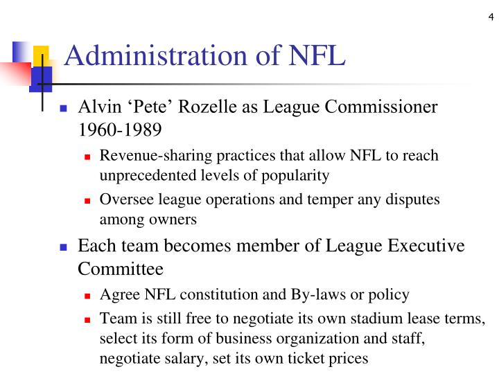 Administration of NFL