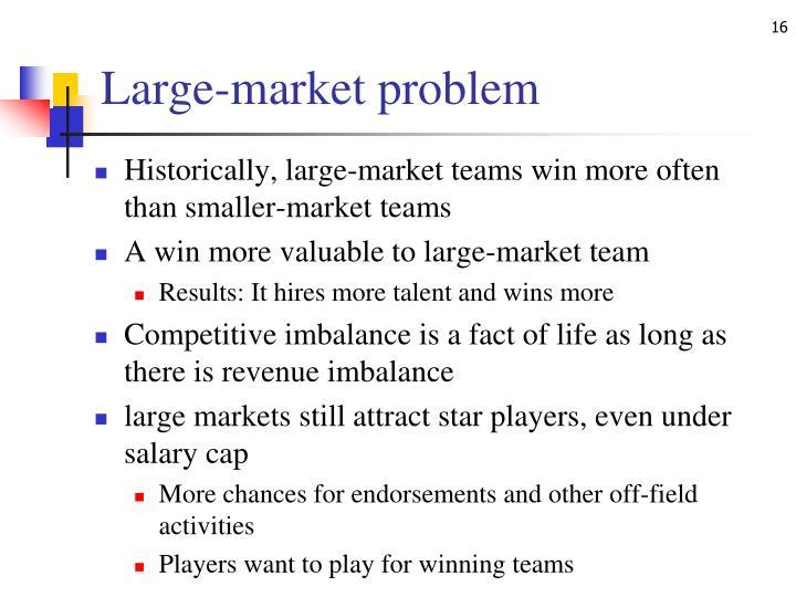 Large-market problem