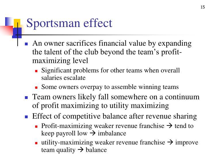 Sportsman effect