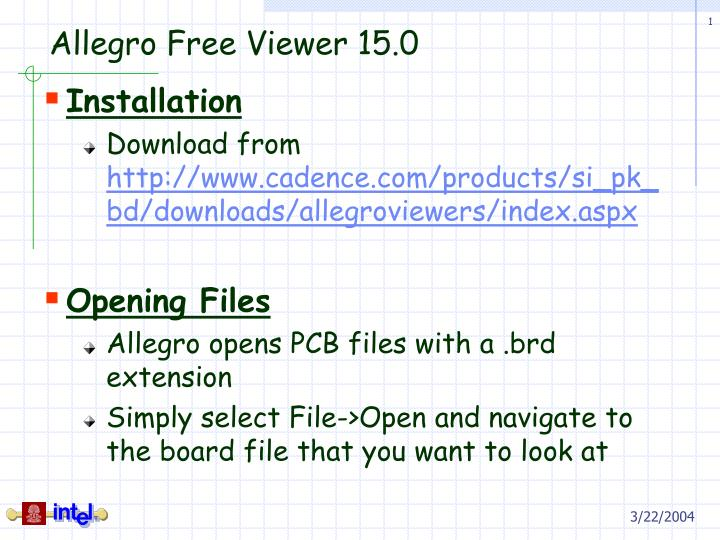 PPT - Allegro Free Viewer 15 0 PowerPoint Presentation - ID