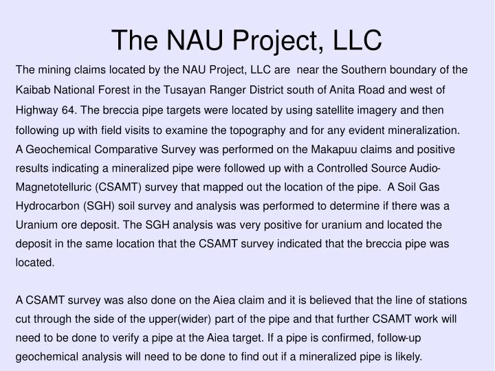 The nau project llc1