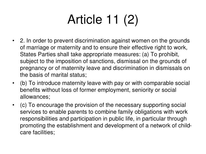 Article 11 (2)