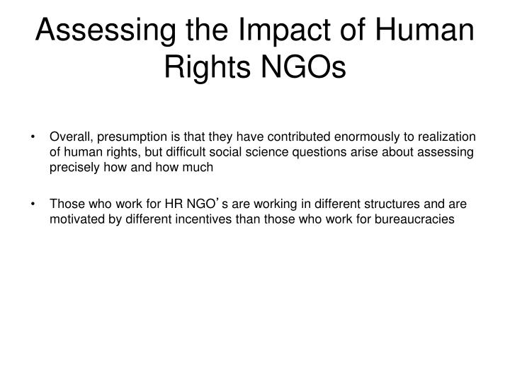 Assessing the Impact of Human Rights NGOs