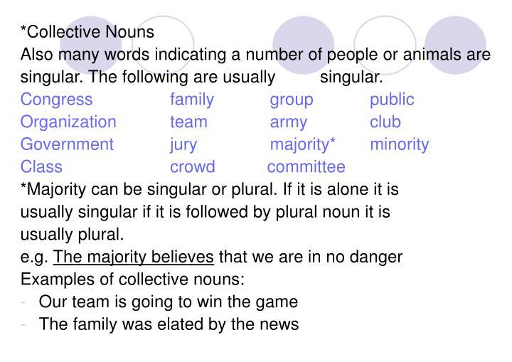 *Collective Nouns