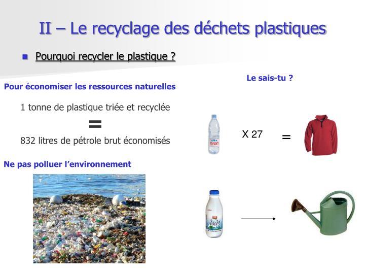 1 tonne de plastique triée et recyclée