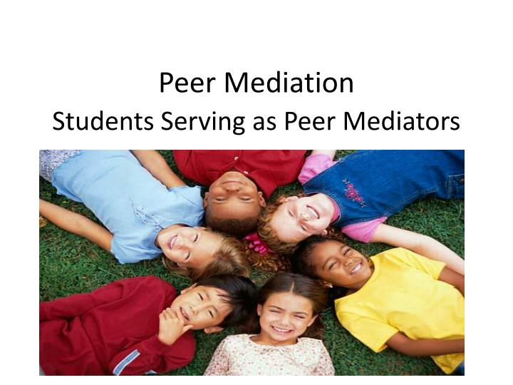 Peer mediation students serving as peer mediators
