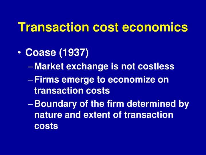 Transaction cost economics