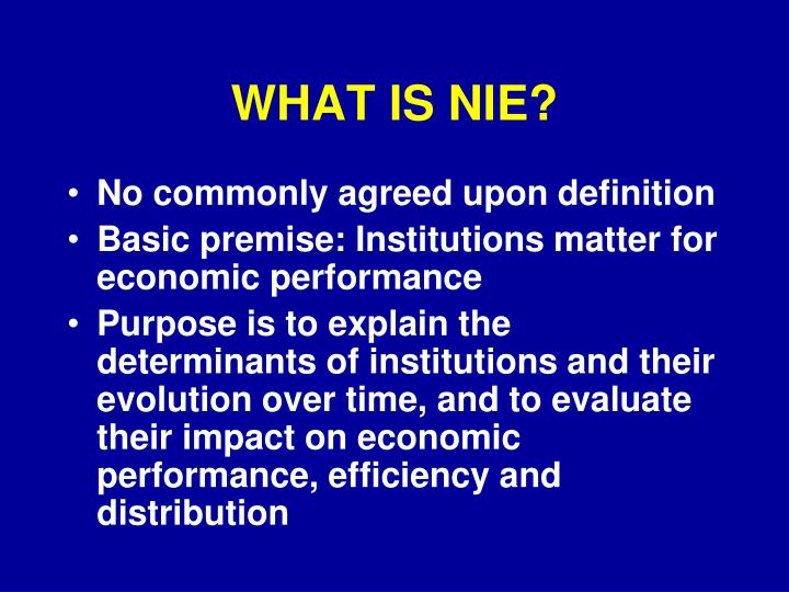 What is nie