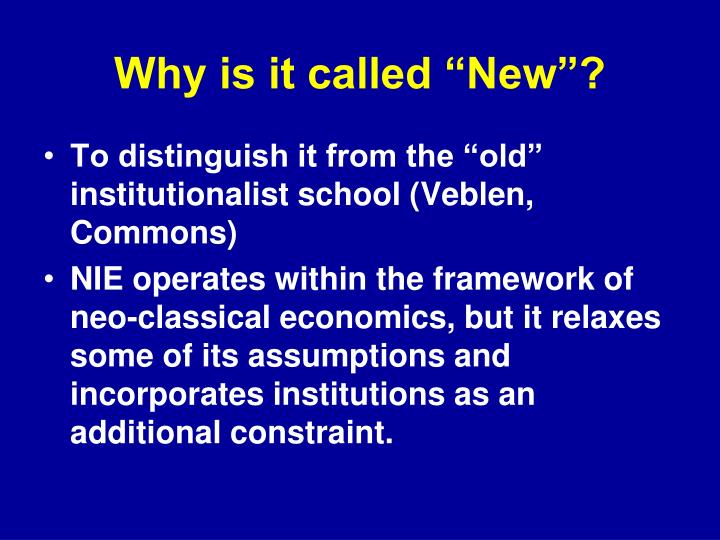 """Why is it called """"New""""?"""