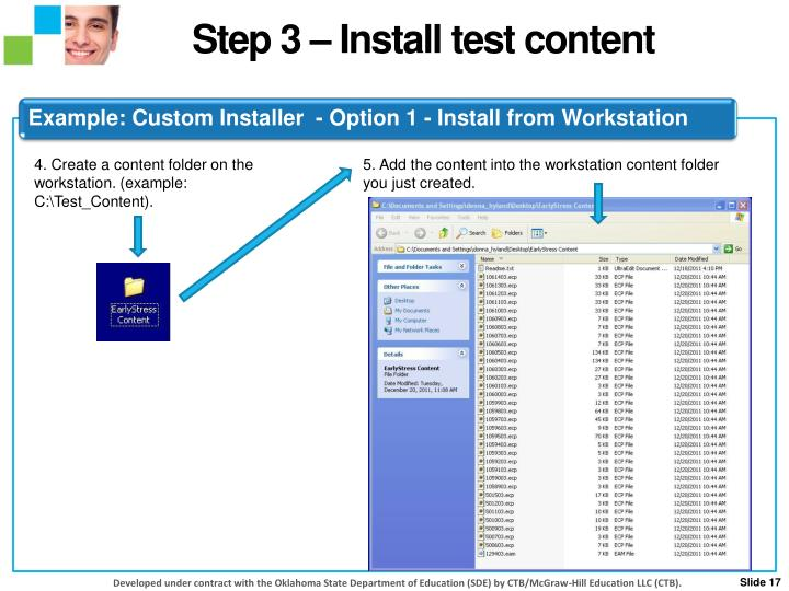 Step 3 – Install test content