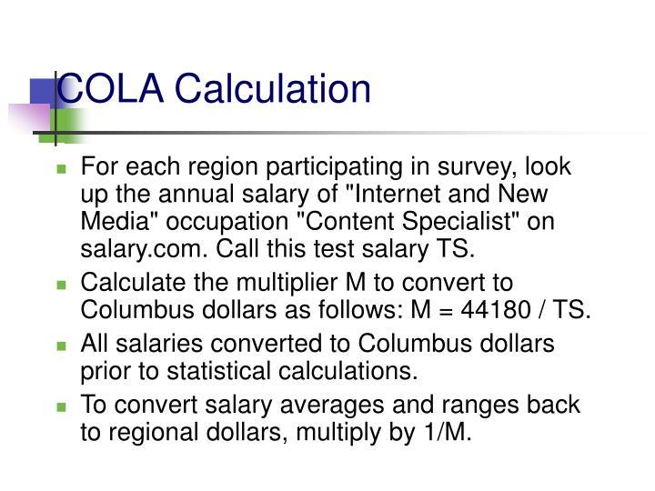 COLA Calculation
