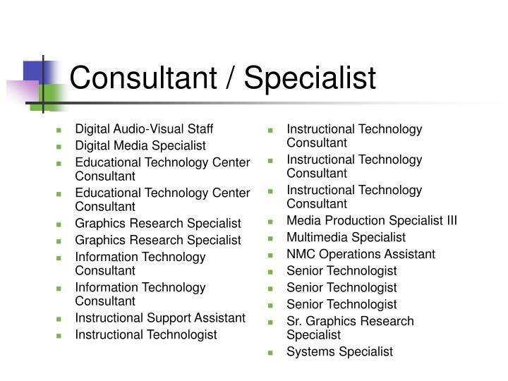 Digital Audio-Visual Staff
