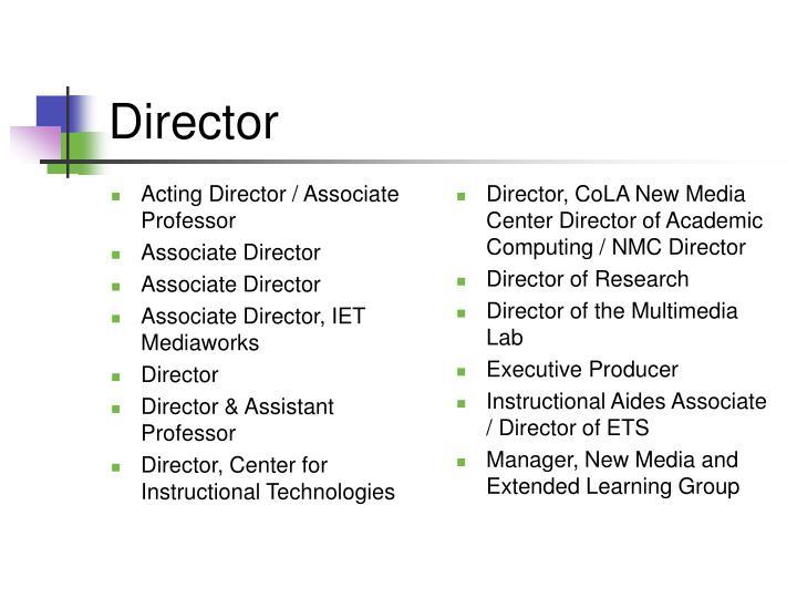 Acting Director / Associate Professor