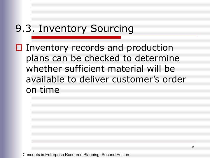 9.3. Inventory Sourcing