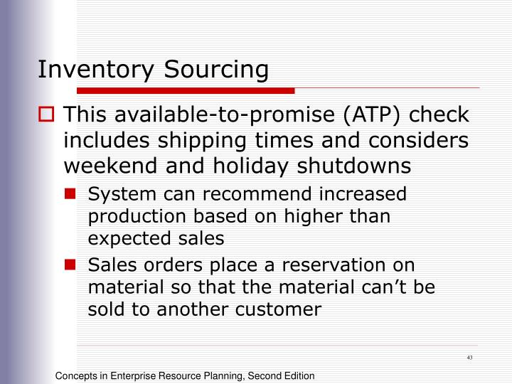 Inventory Sourcing